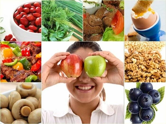 продукты для глаз улучшение зрения