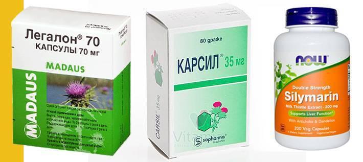 Применение препаратов из расторопши для лечения печени