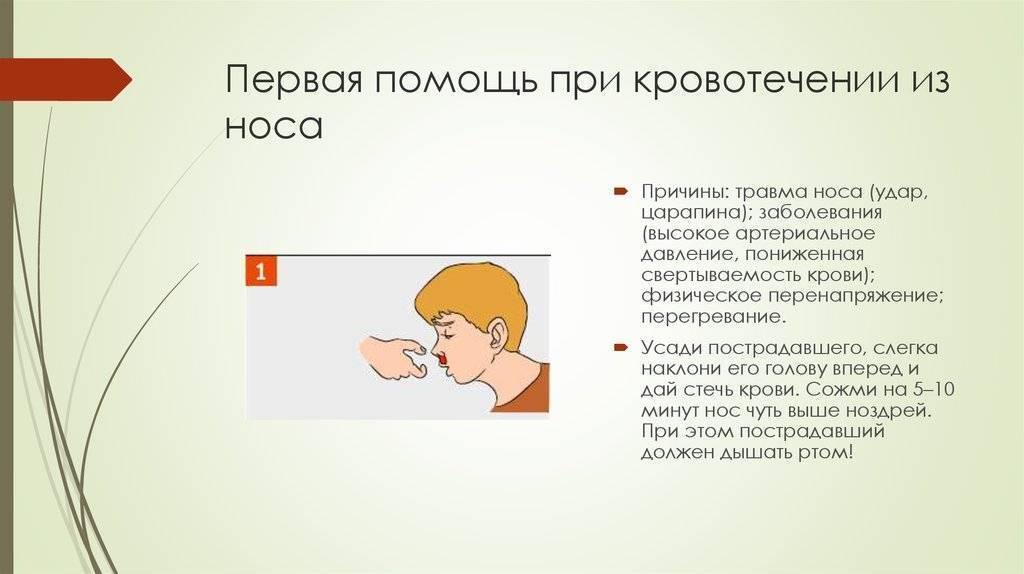 повышенное давление кровь из носа