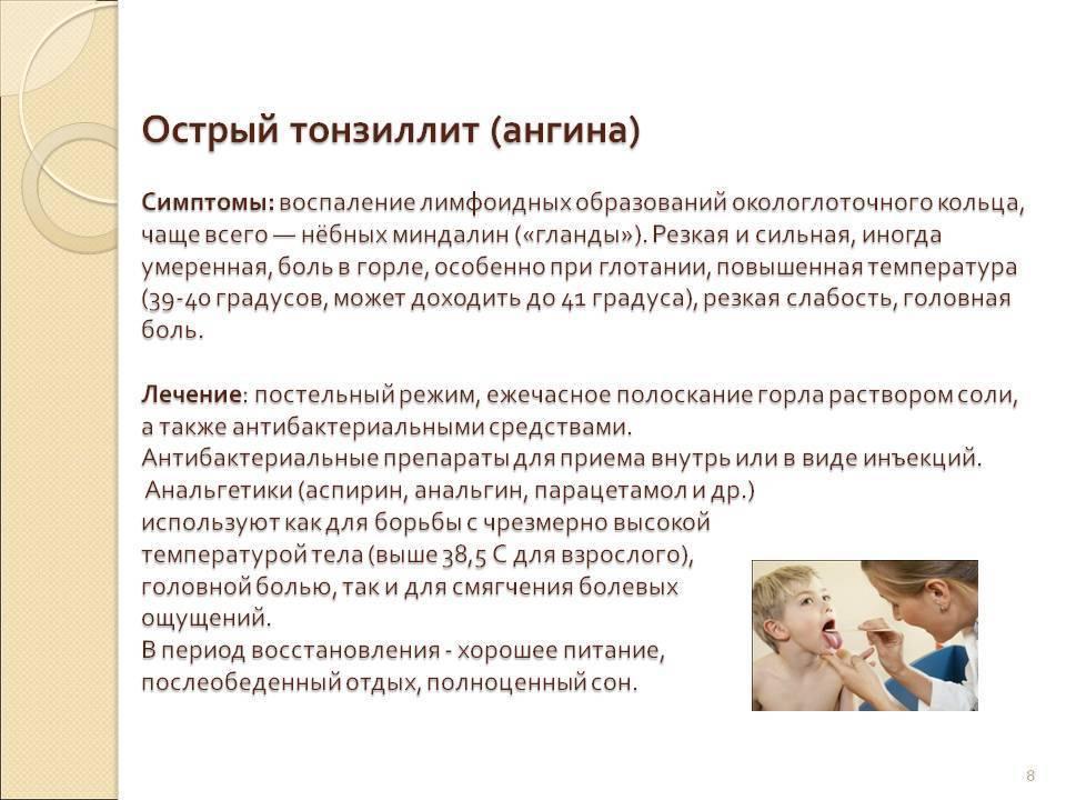 симптомы ангины у ребенка 2 года