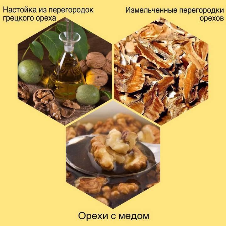 Лечение узлов щитовидной железы перегородками грецких орехов