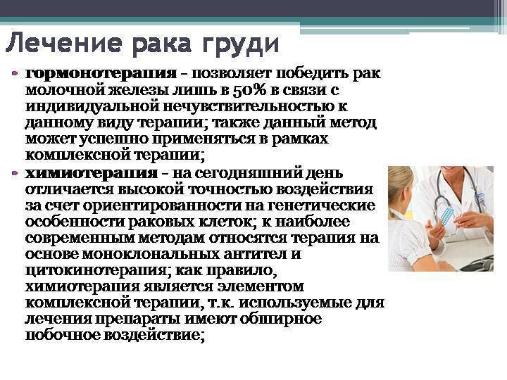 Лечение рака молочной железы на разных стадиях: методы