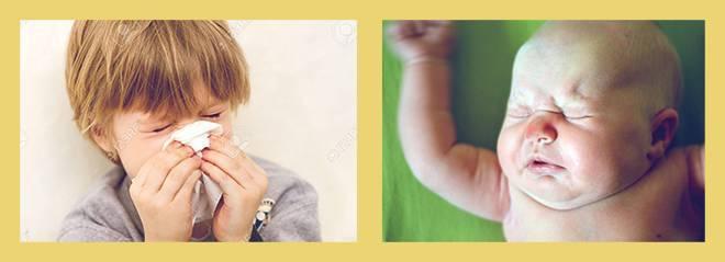 аллергический ринит у грудничка симптомы