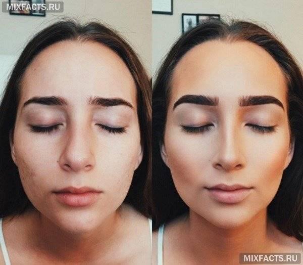 как сделать нос тоньше с помощью макияжа