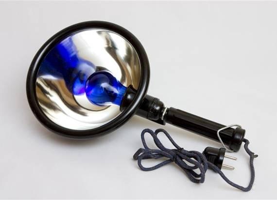 как пользоваться синей лампой при насморке