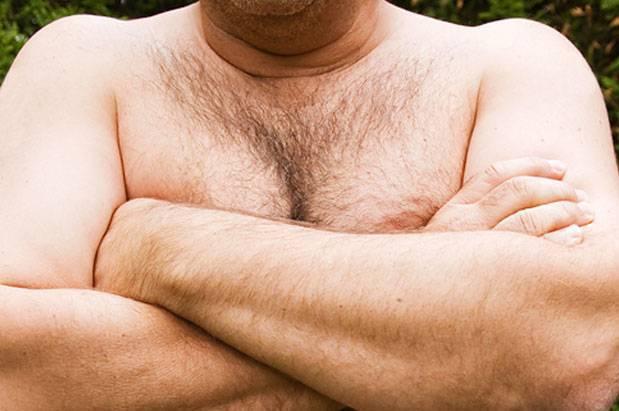 Мастопатия в мужской груди