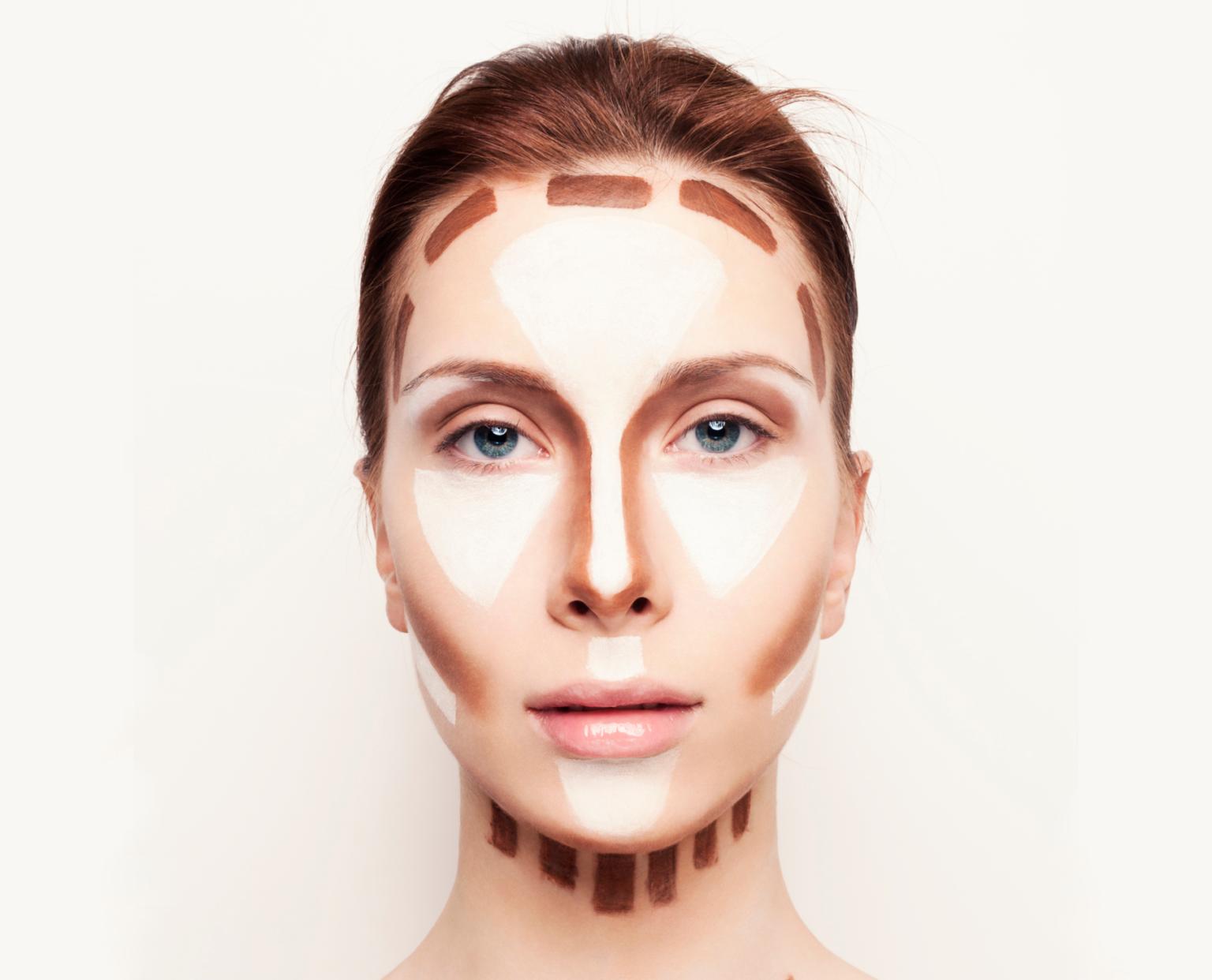 как уменьшить нос макияжем