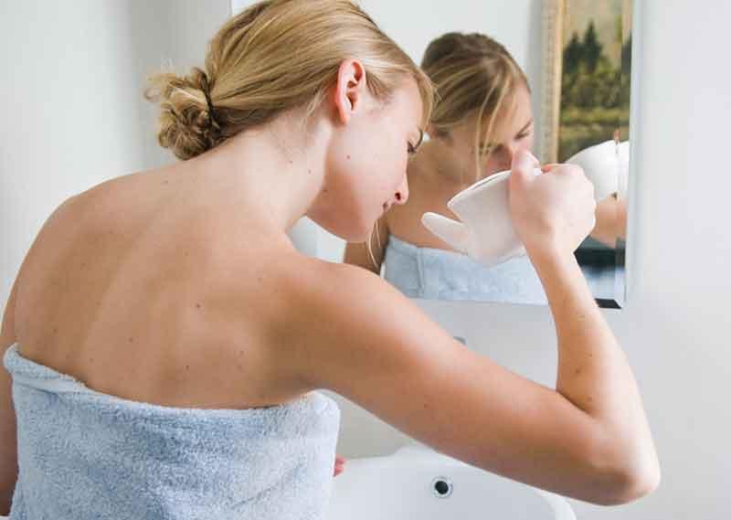Промывание носа содой