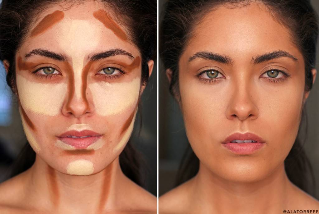 как с помощью косметики уменьшить нос