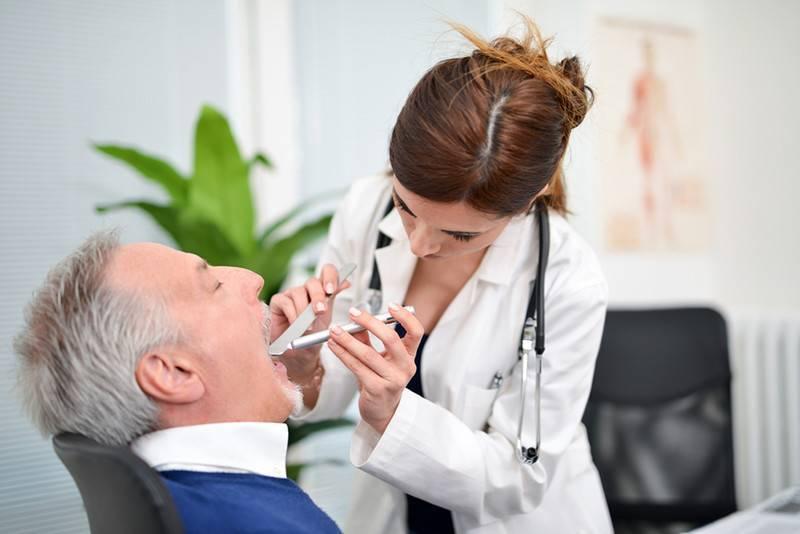 грибок в горле лечение