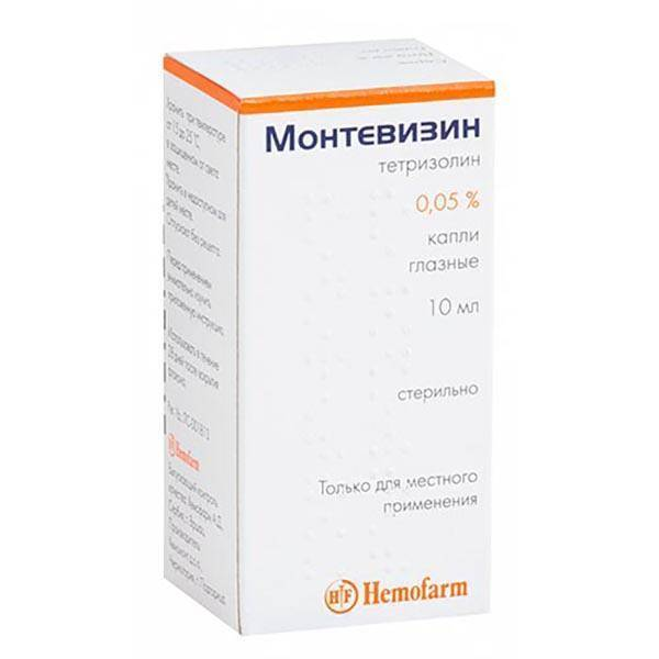 Применение глазных капель монтевизин