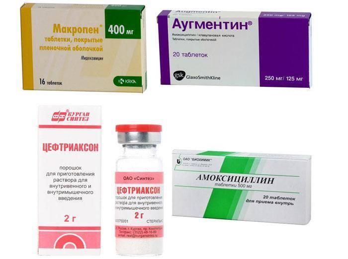 гнойная ангина антибиотики