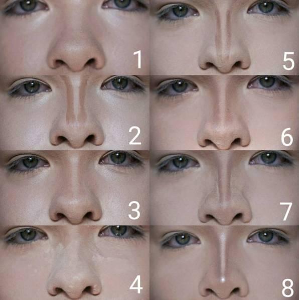 как сузить нос с помощью макияжа