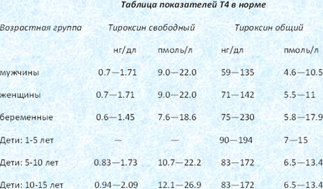 Т4 общий: что за гормон, его нормальные показатели и отклонения от нормы