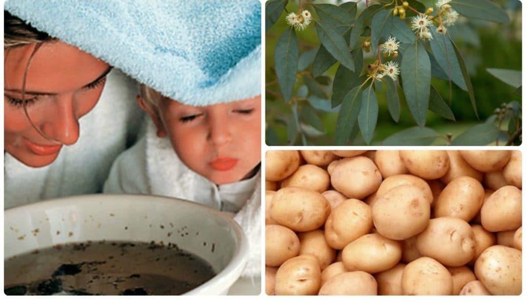 Ингаляции с картошкой от кашля