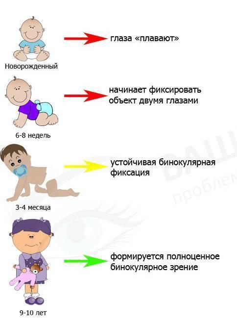 зрение у новорожденных в 1 месяц