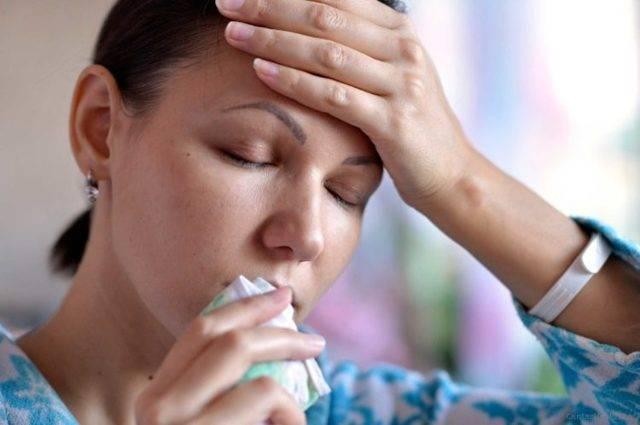 заложен нос болит голова температура 37