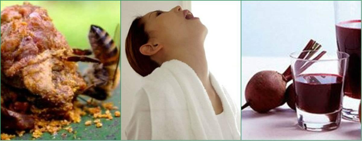 Свекла от ангины с уксусом, медом, луком и другими ингредиентами: рецепты средств народной медицины для лечения, как полоскать соком корнеплода от боли в горле?