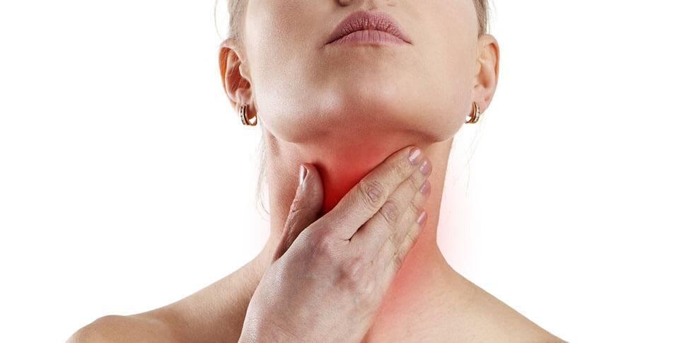 Почему возникает боль в области щитовидной железы