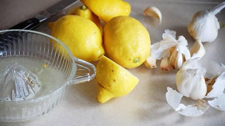 чеснок и лимон настойка
