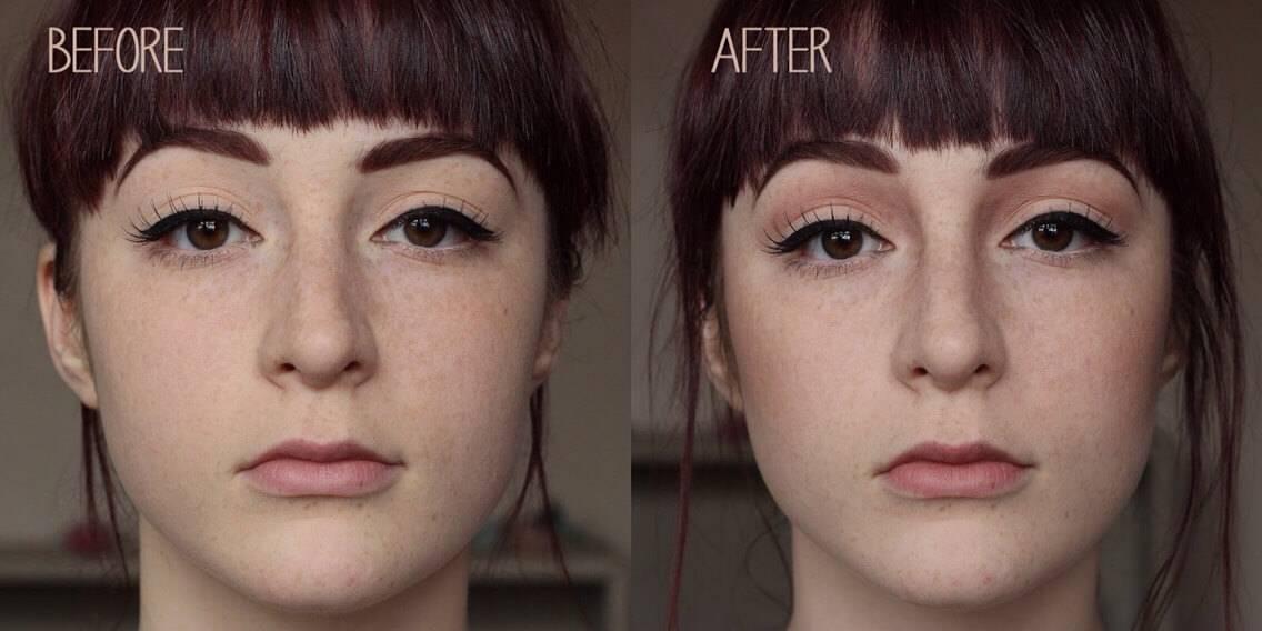 как сделать нос меньше с помощью косметики