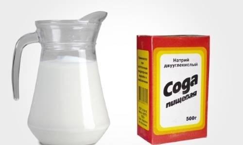 молоко с содой при кашле