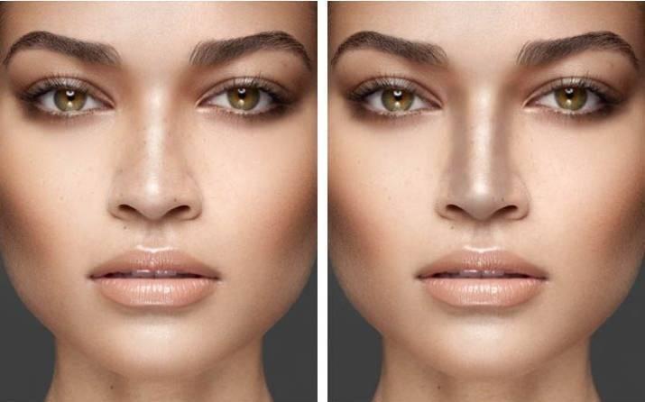 Как уменьшить нос макияжем - зрительно. что нужно для уменьшения носа макияжем, фото и видео