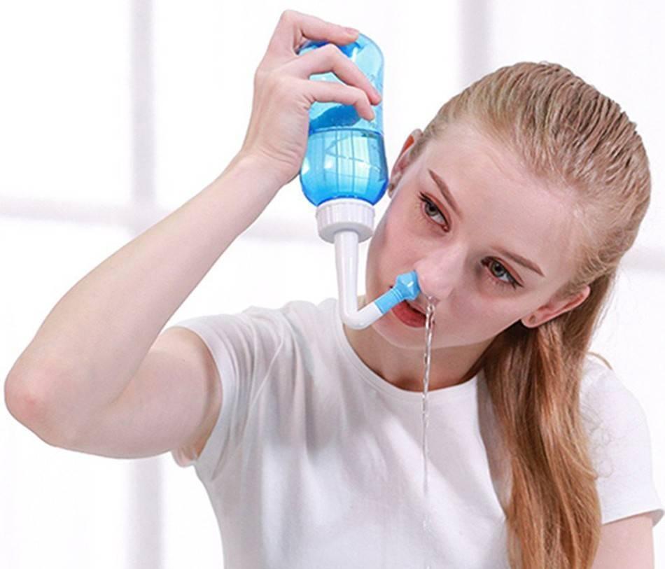 Устройство для промывания носа: чайник, бутылочка, флакон и другие приспособления
