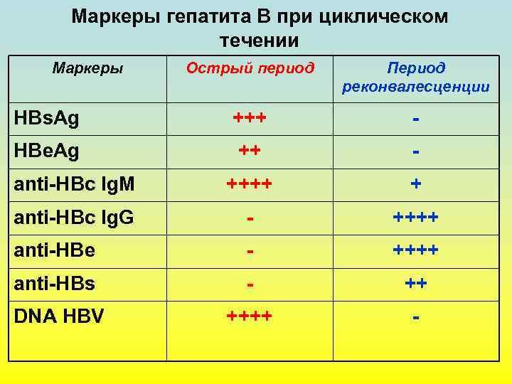 маркеры вирусного гепатита в