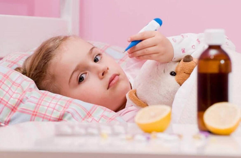 температура 39 красное горло у ребенка