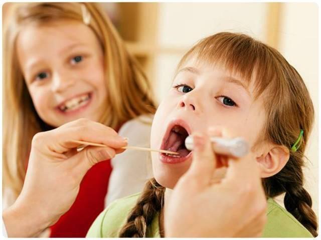 лечение горла у детей 3 лет