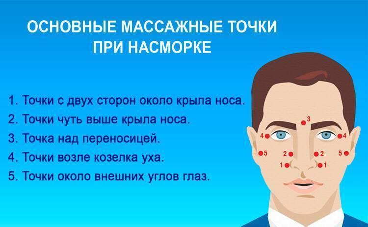 массаж носа от насморка