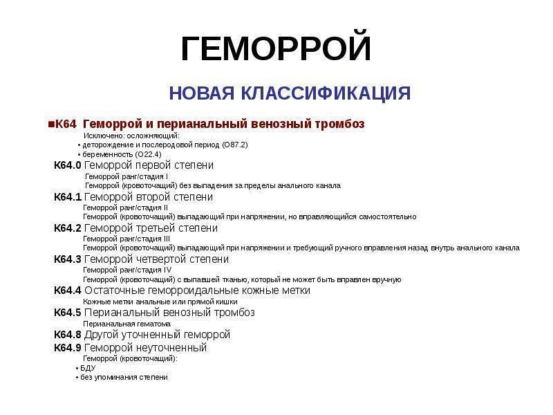 геморрой код по мкб 10