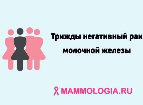 Трижды негативный рак молочной железы — причины, стадии, симптомы, лечение