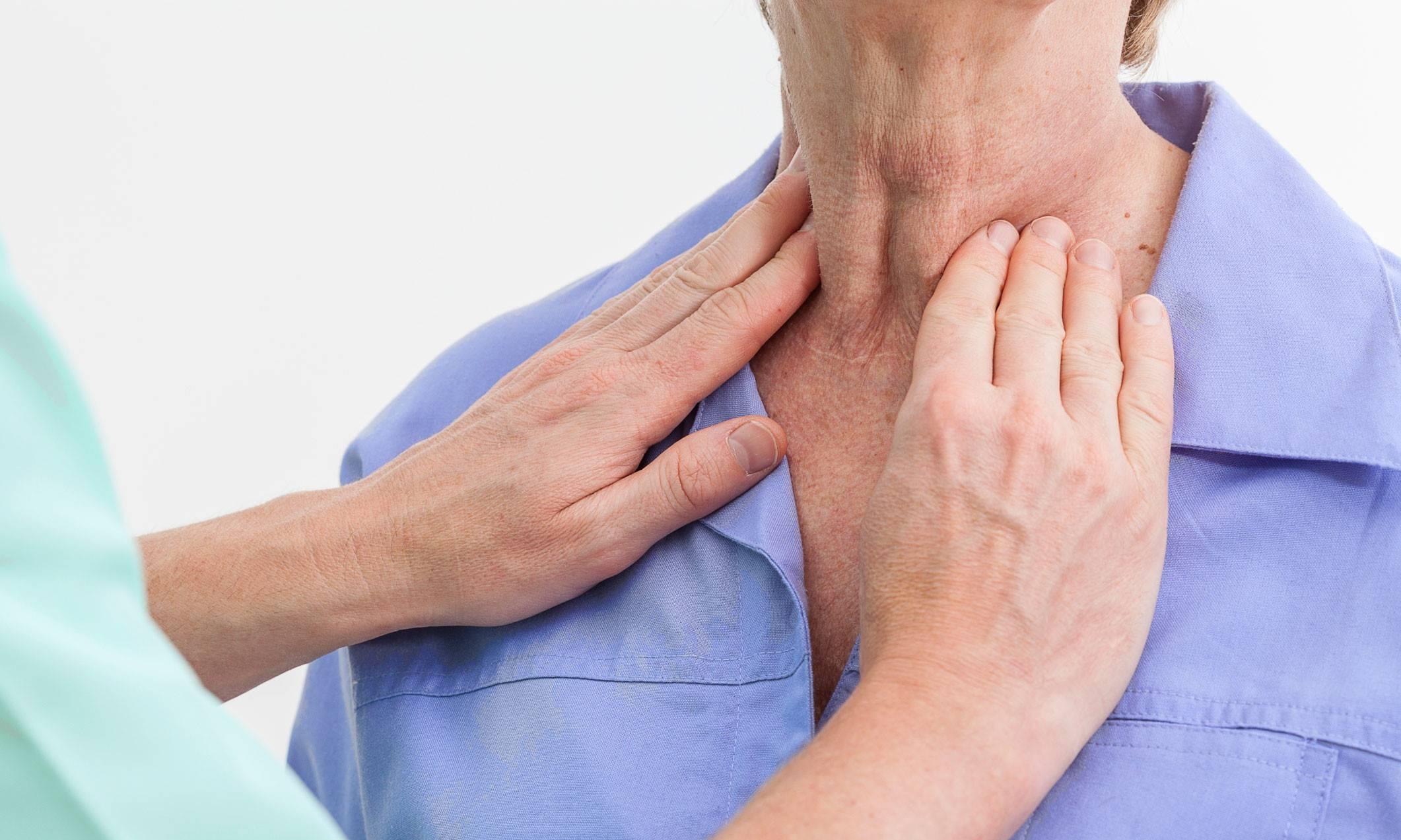 Причины появления чувства удушья в щитовидной железе и помощь больному