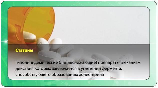 Статины — препараты для снижения уровня холестерина в крови