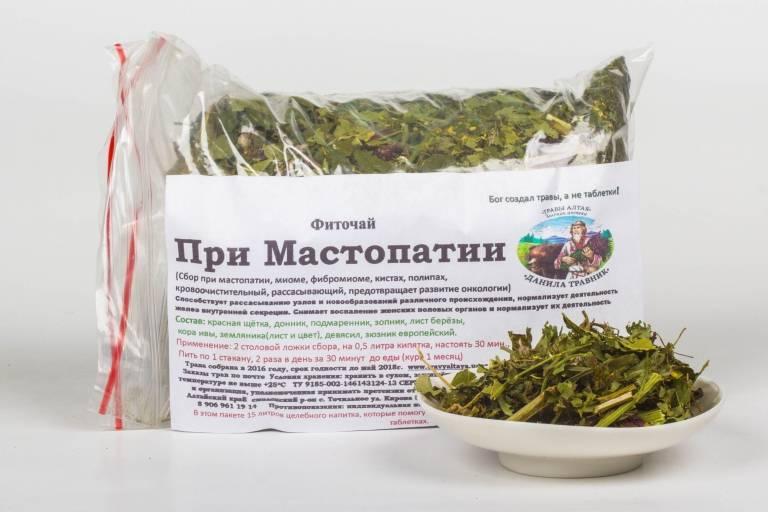 Комплексные травяные сборы из аптеки для лечения и профилактики мастопатии