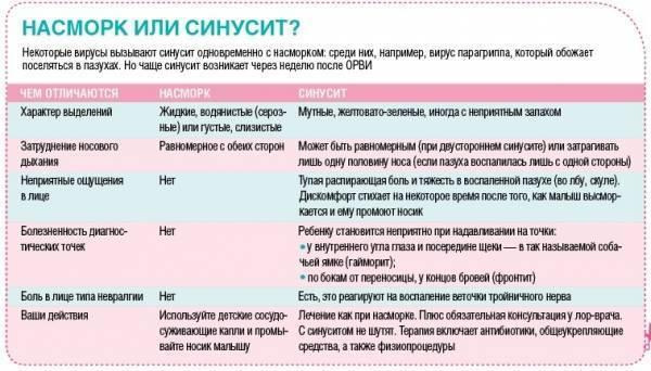 ринит и синусит