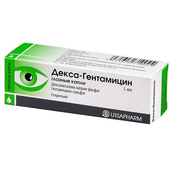 Декса-гентамицин: обзор капель для глаз