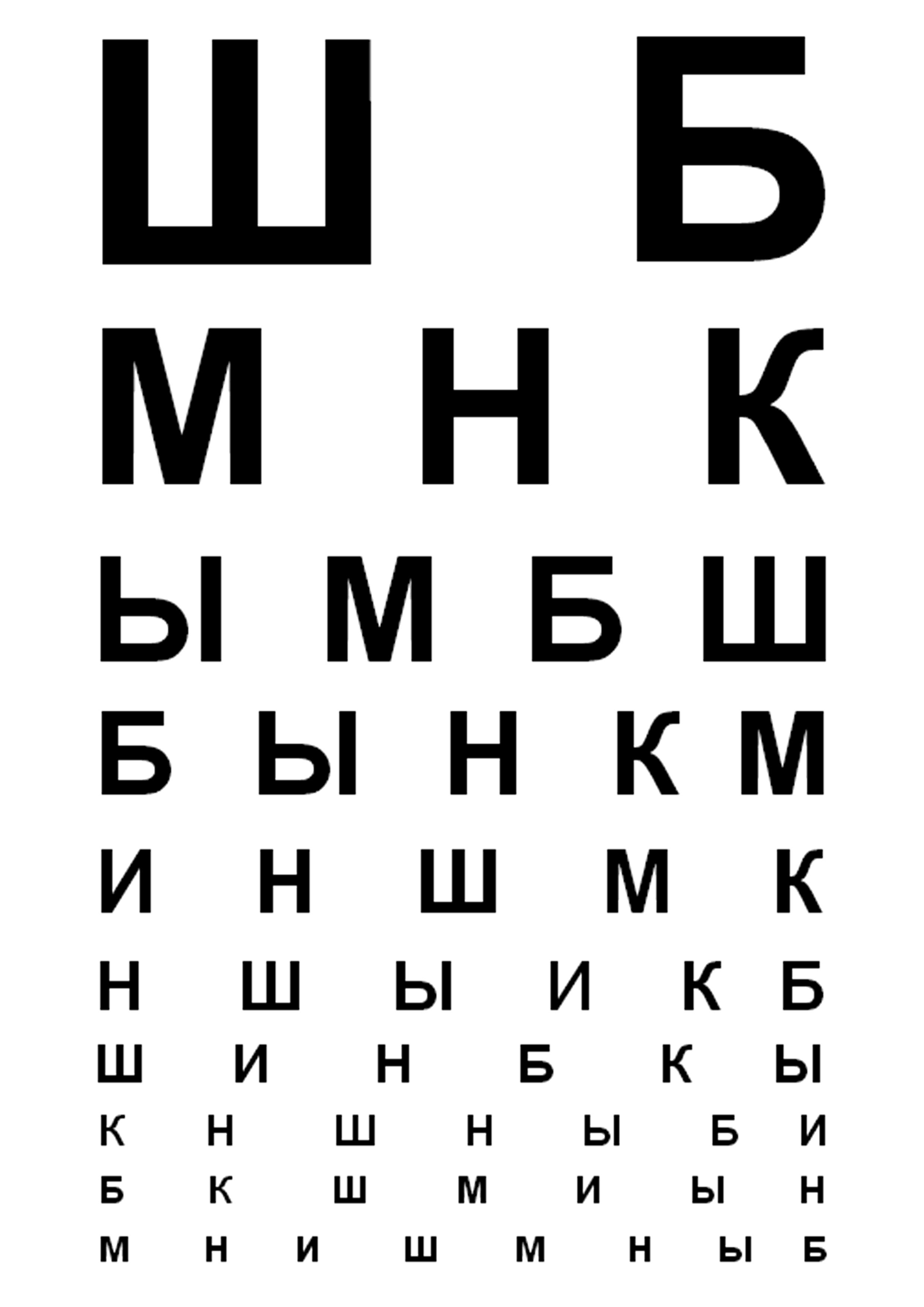 как самостоятельно проверить зрение