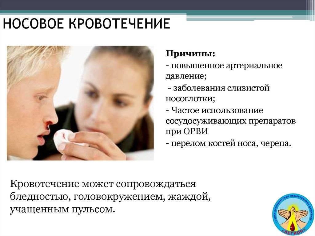 Кровь из носа при повышенном давлении или пониженном давлении