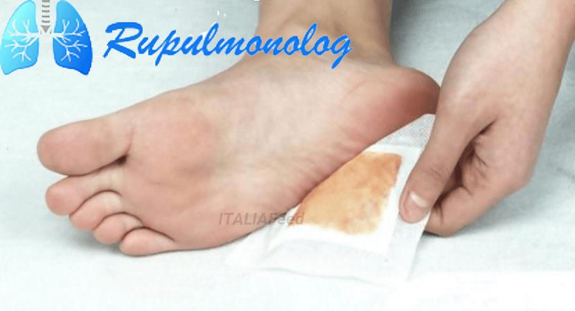 Горчичники при насморке на ноги
