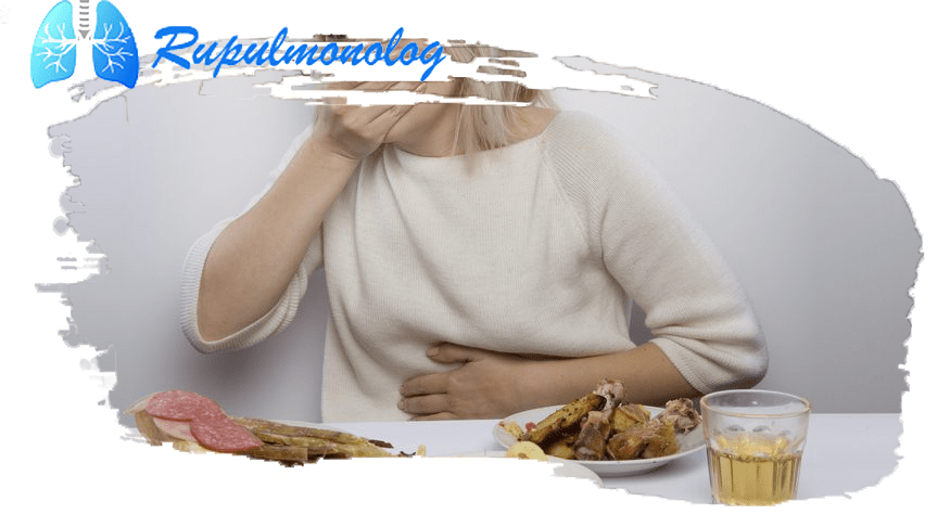 кашель после еды с мокротой