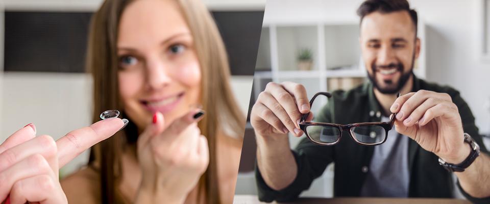 что лучше очки или контактные линзы