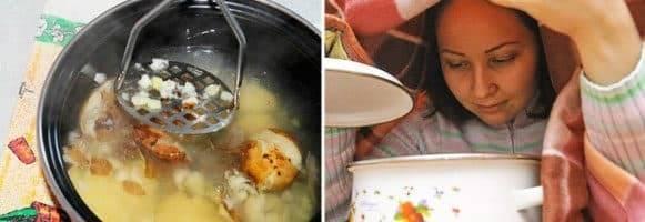 Польза ингаляций над картошкой при насморке