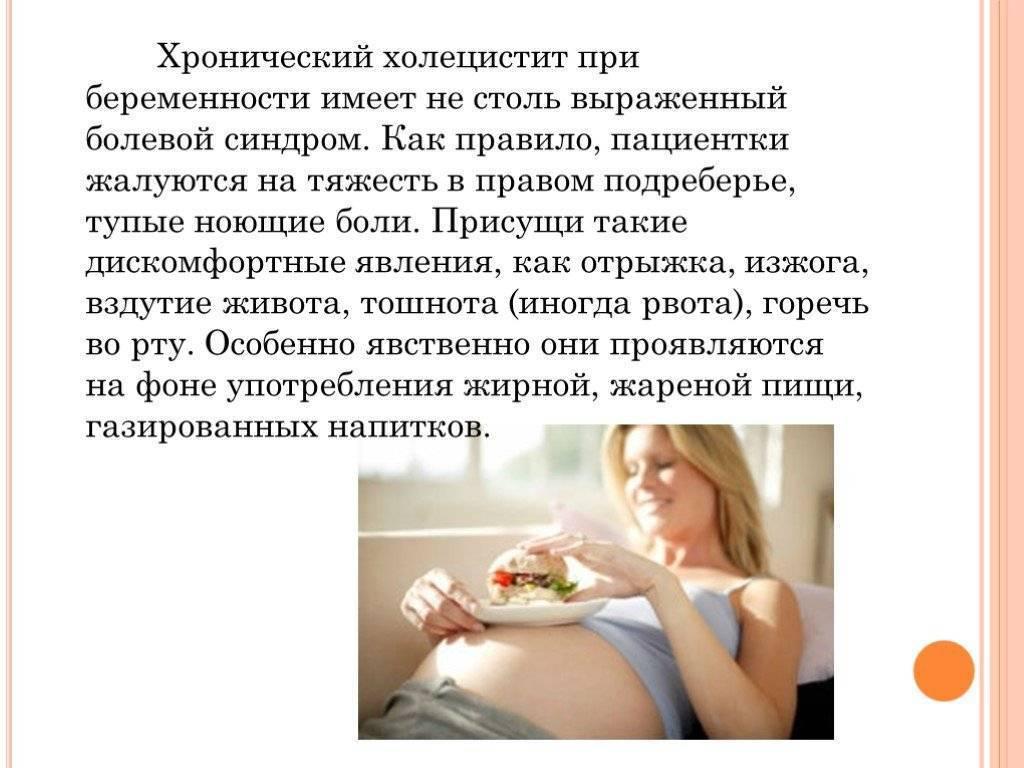 холецистит при беременности симптомы