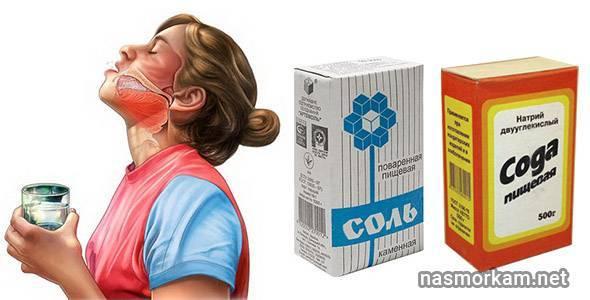 Как сделать содовый раствор для полоскания горла