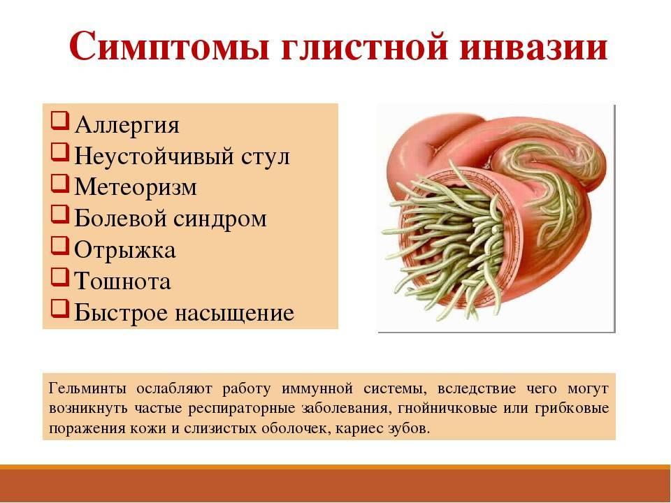 глистная инвазия лечение