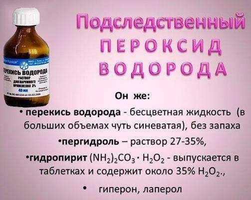 перекись водорода при геморрое неумывакин
