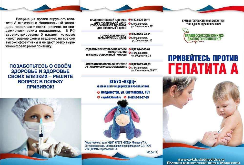 гепатит а прививка детям